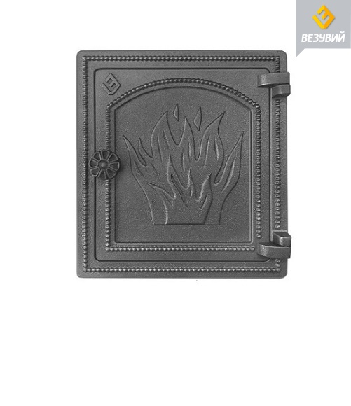 Дверка Везувий печатная ДТ-4 (антрацит)