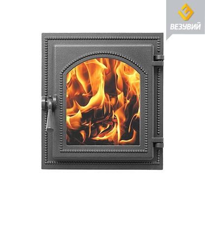 Дверь Везувий 220 стекло (атрацит)