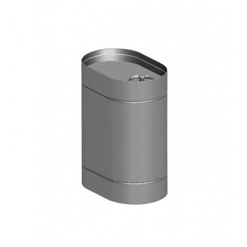 Бак из нержавейки под контур 60 литров - вертикальный (овальный)