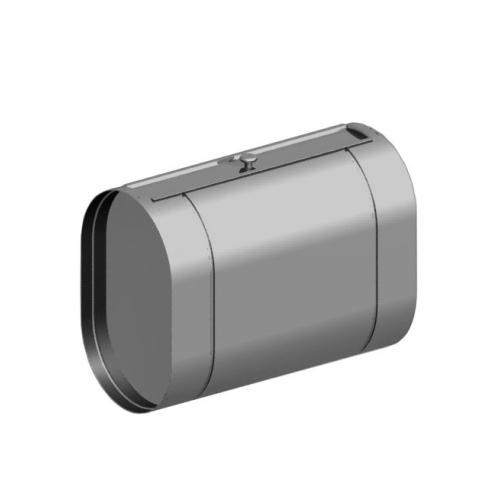 Бак из нержавейки под контур 60 литров - горизонтальный (овальный)